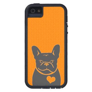 オレンジ及び灰色FRENCHIEの(紋章の)フラ・ダ・リ iPhone SE/5/5s ケース