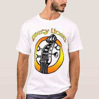 オレンジ及び黄色人の汚れたリネンロゴ Tシャツ