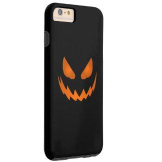 オレンジ及び黒いハロウィーンのカボチャのちょうちんハロウィン TOUGH iPhone 6 PLUS ケース