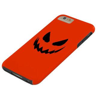 オレンジ及び黒いハロウィーンのカボチャのちょうちん TOUGH iPhone 6 PLUS ケース