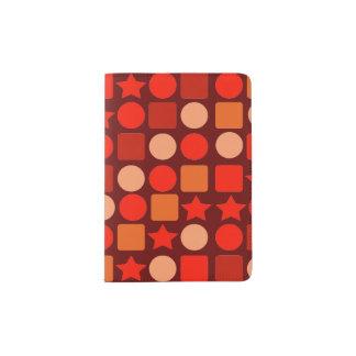 オレンジ味の幾何学的なパスポートのホールダー パスポートカバー