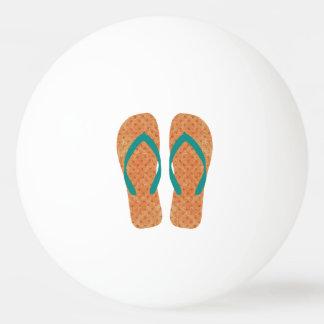 オレンジ夏のビーチのパーティのビーチサンダル 卓球ボール