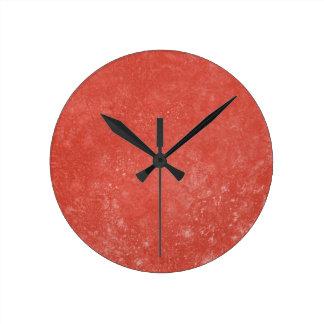 オレンジ大理石 ラウンド壁時計