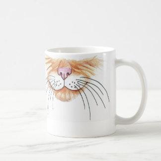 オレンジ子猫の顔の芸術のマグ コーヒーマグカップ