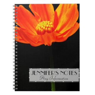 オレンジ宇宙の花 ノートブック