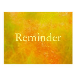 オレンジ専門のアポイントメントのメモカード ポストカード