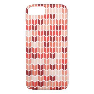 オレンジ幾何学的なパターン iPhone 8/7ケース