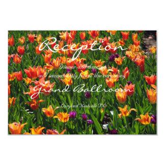 オレンジ庭の披露宴 8.9 X 12.7 インビテーションカード