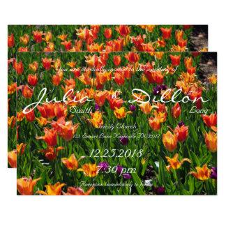 オレンジ庭園の結婚式 12.7 X 17.8 インビテーションカード