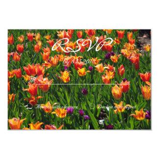 オレンジ庭RSVP 8.9 X 12.7 インビテーションカード