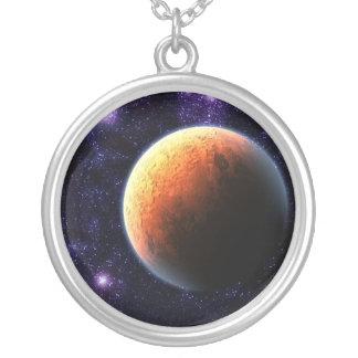 オレンジ惑星 カスタムネックレス