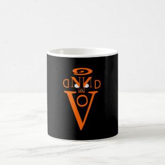 オレンジ手紙の顔のマグ コーヒーマグカップ