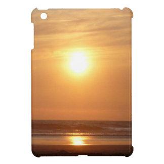 オレンジ日没 iPad MINIカバー