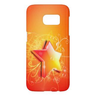 オレンジ星の渦巻のベクトル芸術 SAMSUNG GALAXY S7 ケース