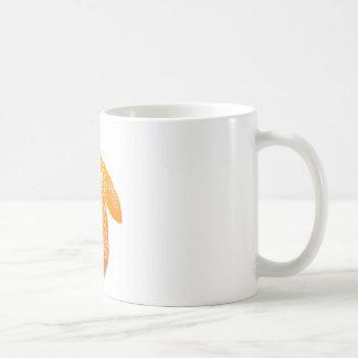 オレンジ曼荼羅のカメ コーヒーマグカップ