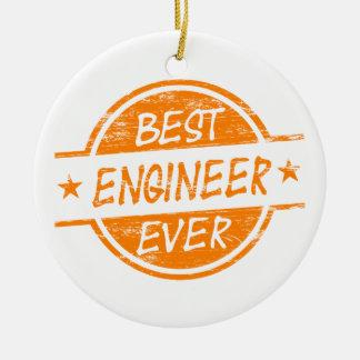 オレンジ最も最高のなエンジニア セラミックオーナメント