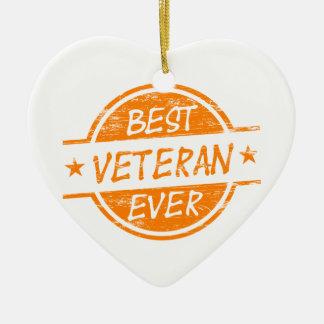 オレンジ最も最高のな退役軍人 セラミックオーナメント