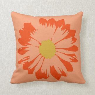 オレンジ枕のオレンジ花 クッション