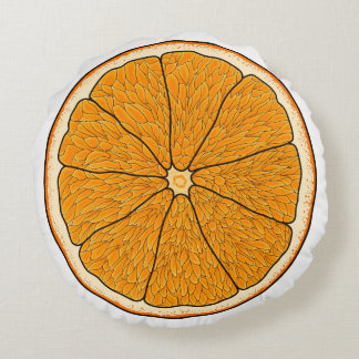 オレンジ枕 ラウンドクッション