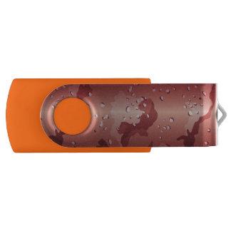 オレンジ果樹園の迷彩柄のカムフラージュ USBフラッシュドライブ