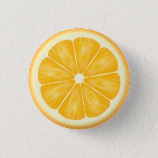 オレンジ柑橘類の切れ 3.2CM 丸型バッジ