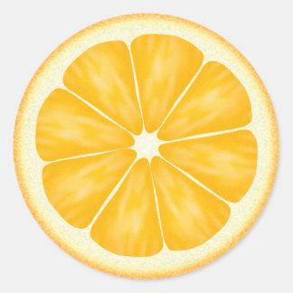 オレンジ柑橘類 ラウンドシール