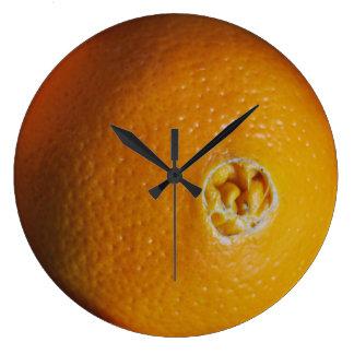 オレンジ柱時計 ラージ壁時計
