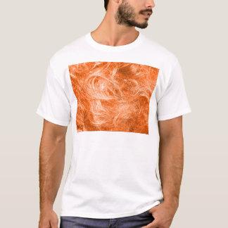 オレンジ毛皮 Tシャツ