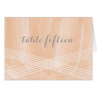 オレンジ水彩画のDecoのテーブル数 グリーティングカード