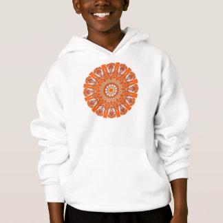 オレンジ水晶車輪の曼荼羅、抽象的な炎