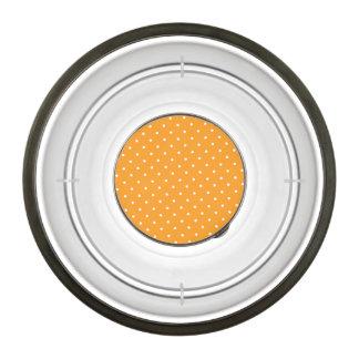 オレンジ水玉模様のデザイン ペットボウル
