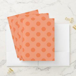 オレンジ水玉模様のポケットフォルダー ポケットフォルダー