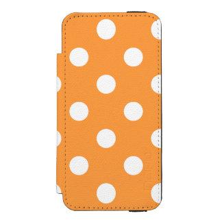 オレンジ水玉模様パターン INCIPIO WATSON™ iPhone 5 ウォレット ケース