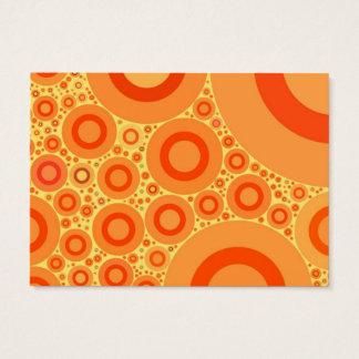 オレンジ水玉模様-ぽっちゃりした名刺 名刺
