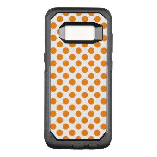 オレンジ水玉模様 オッターボックスコミューターSamsung GALAXY S8 ケース