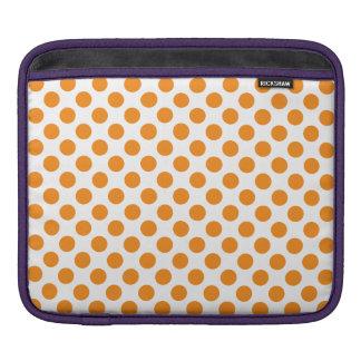 オレンジ水玉模様 iPad 用スリーブ