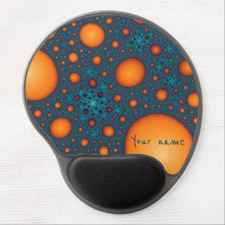 オレンジ泡。 あなたの名前またはカスタムのテキストを加えて下さい ジェルマウスパッド
