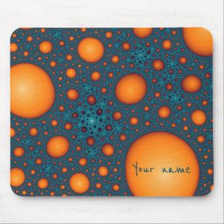 オレンジ泡。 あなたの名前またはカスタムのテキストを加えて下さい マウスパッド