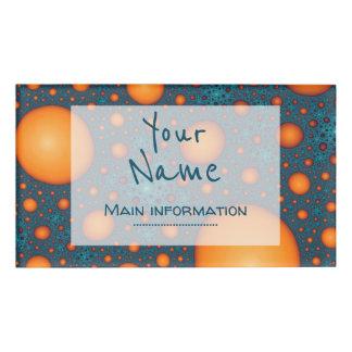 オレンジ泡。 あなたの名前またはカスタムのテキストを加えて下さい 名札
