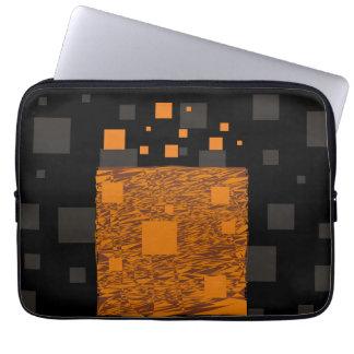 オレンジ注意深い浮遊物の抽象芸術のハロウィンのブラックボックス ラップトップスリーブ