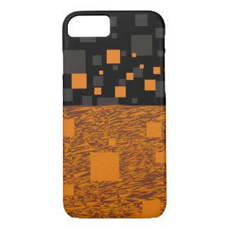 オレンジ注意深い浮遊物の抽象芸術のハロウィンのブラックボックス iPhone 8/7ケース