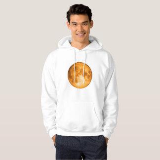 オレンジ満月 パーカ