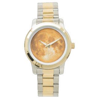 オレンジ満月 腕時計
