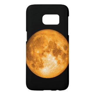オレンジ満月 SAMSUNG GALAXY S7 ケース