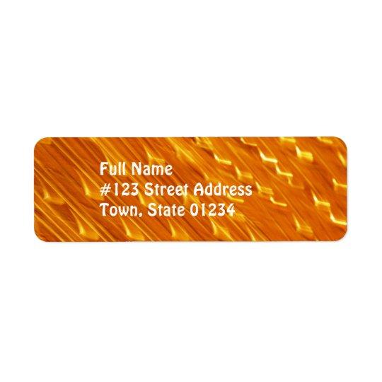 オレンジ溶岩の郵送物のラベル ラベル