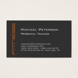 オレンジ灰色のパーソナルトレーナーのスポーツの名刺 名刺