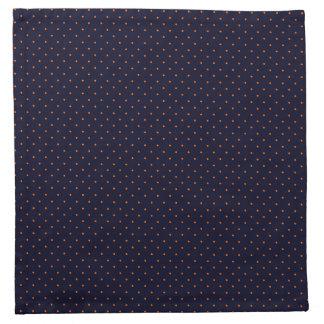 オレンジ点と濃紺布のナプキン ナプキンクロス