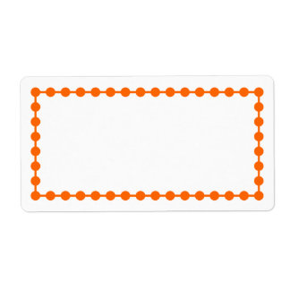 オレンジ点フレームのボーダーラベル ラベル
