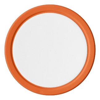 オレンジ無地のな端が付いているポーカー用のチップ ポーカーチップ