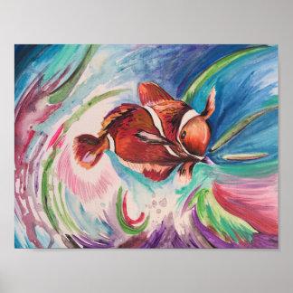 オレンジ熱帯魚 ポスター